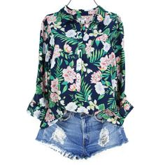 9bfb321232d Old Navy XL Tunic Top Womens Plus Size Botanical Floral Print Shirt Half  Button