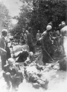 Rzeszow, Poland, Jews, some naked, before their execution in the forest.