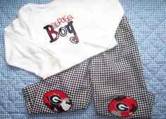 Hey, I found this really awesome Etsy listing at https://www.etsy.com/listing/200574229/sale-2pc-0-2t-georgia-bulldog-outfit-ga