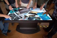 Ideum Multitouch Table.  This is awesome, but what if you accidentally spill a drink on it?  I bet you can say bye-bye table.