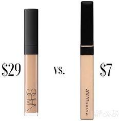 NARS Radiant Creamy Concealer VS. Maybelline Fit Me Concealer | Dupe