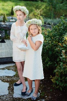 pretty flower girls