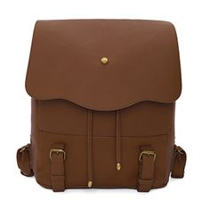 Faux leather backpack College book bag for men Black Brown 038 (19)