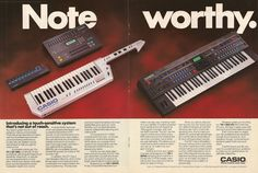 Casio synth ad