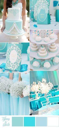 tiffany blue and white beach wedding color ideas
