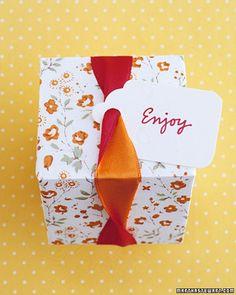 Ribbon Twist Box .. Favor Box Templates