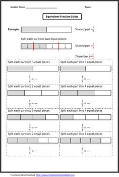 Fractions worksheets, Fractions and Worksheets on Pinterest