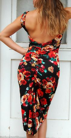 MIMOSA Floral Print Tango Dress. Reversible by TangoWithLove