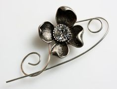 Hey, I found this really awesome Etsy listing at https://www.etsy.com/listing/88005282/silver-flower-scarf-pin-brooch-shawl-pin