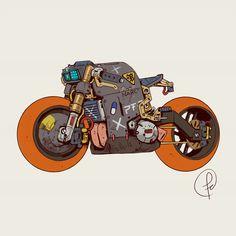 ArtStation – From the slums of Fernando Correa ArtStation – Aus den Slums von Fernando Correa Futuristic Motorcycle, Motorcycle Art, Futuristic Cars, Motorcycle Design, Bike Art, Character Concept, Character Art, Cyberpunk Kunst, Cyberpunk 2020