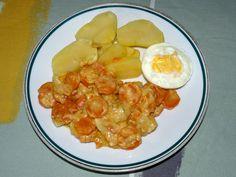 Dušená mrkev se smetanou a karí Macaroni And Cheese, Shrimp, Vegan Recipes, Eggs, Meat, Breakfast, Ethnic Recipes, Food, Friends