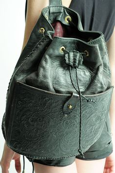 Laced With Romance - TOOLED LEATHER BACKPACK