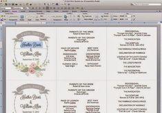 Programa de boda imprimible gratis