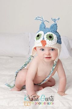 Owl Hat by onestinkinpetunia on Etsy, $24.00