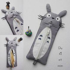 Trousse Totoro par Du fil et mon ... - thread&needles