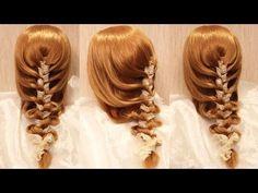 "Коса ""плетёнка"" с тесьмой - YouTube"