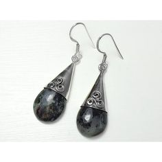 House of Audrey - Sterling Silver Astrophyllite Dangle Earrings