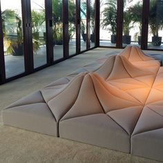 Pierre Paulin's Modular Seating Design as part of Playing with Shapes for Louis Vuitton during Design Miami