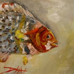 Pint Size, fish art, painting by artist Delilah Smith
