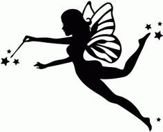 Details About Die Cut Silhouette Fairies C X 18 Assorted
