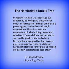 The narcissistic family tree And people dare question me and my sanity. Ha. I have always known when to call a spade a spade.