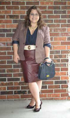 Plus Size Luca Faux Leather Pencil Skirt | Curvy | Pinterest ...
