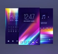 Mobile Themes Design Vector