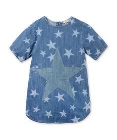 Blue Denim Bess dress // #stellamccartney #stellamccartneykids #blue #denim #bess #dress #fall #winter #autumn #girls #kids #kidsstyle #kidsfashion #kidsapparel #fashion #tinyapple #stylishbabes #style #toddlers
