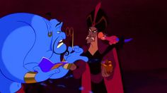 Genie: Tonight, the part of Al, will be played by a tall dark and sinister ugly man...