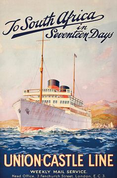 Vintage Travel Poster Advertising A Cruise To South Africa Painting by Maurice Randall