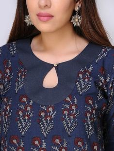 Top 50 Stylish And Trendy Kurti Neck Designs That Will Make You Look All The More Graceful Kurtha Designs, Chudidhar Neck Designs, Neck Designs For Suits, Neckline Designs, Designs For Dresses, Blouse Neck Designs, Tattoo Designs, Design Of Neck, Salwar Designs