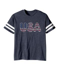 Vintage Navy 'USA' Football Tee - Toddler & Kids