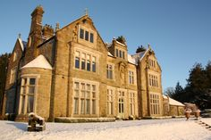Stunning Photos of #Blessingbourne #ManorEstate in the #snow #winter