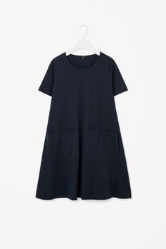 COS image 2 of A-line jersey dress in Navy