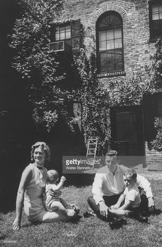 Portrait of John F. Kennedy's sister Jean Smith with husband Stephen and sons…