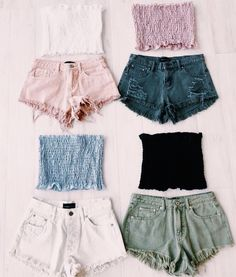 How to wear fall fashion outfits with casual style trends Teenage Outfits, Teen Fashion Outfits, Mode Outfits, Girl Outfits, Teen Summer Outfits, Holiday Outfits, Womens Fashion, Shorts Outfits For Teens, Tube Top Outfits