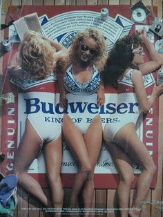 The ad of 1980s for BUDWEISER. Uhmm...look at those delicious beers.