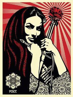 Shepard Fairey + Maria Felix - strong tough women in art (female fighters, rioters and protesters in art