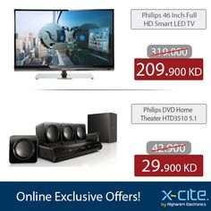 Don't miss the Online exclusive Offers at xcite.com  لا تطوفكم عروض موقعنا الحصرية  http://www.xcite.com/online-exclusive-deals/televisions/philips-46pfl4208d-56-46-inch-fhd-smart-led-tv.html