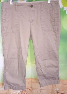 15.01$  Watch here - http://vighr.justgood.pw/vig/item.php?t=lbnd5u26117 - OLD NAVY Womens 10 Beige Low Rise Capris Crops Spring 2010 Discontinued EUC 15.01$