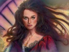 *ELIZABETH SWANN ~ Pirates of the Caribbean: By John Alvin... beautiful portrait!