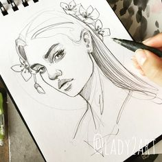 24 Ideas Drawing Woman Pencil Design Reference For 2019 Illustration Art Drawing, Drawing Sketches, Art Drawings, Landscape Illustration, Drawing Art, Sketching, Portrait Sketches, Portrait Art, Aesthetic Drawing