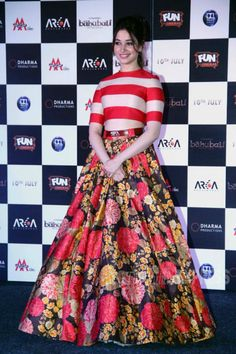 Tamannaah Bhatia at the of launch 'Baahubali' trailer. #Bollywood #Fashion #Style #Baahubali #Beauty
