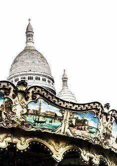 Carousel Photography  Sacre Couer  Paris Landmarks  Neutral