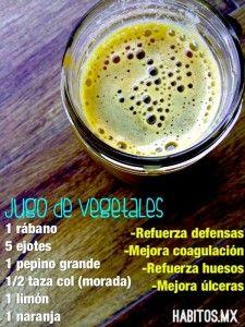 Jugo de vegetales: Refuerza defensas | Hábitos Health Coaching