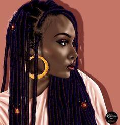Black and beauty❤🔥😘 Black Love Art, Black Girl Art, Black Girls Rock, Black Girl Magic, Art Girl, African American Art, African Art, Natural Hair Art, Natural Hair Styles