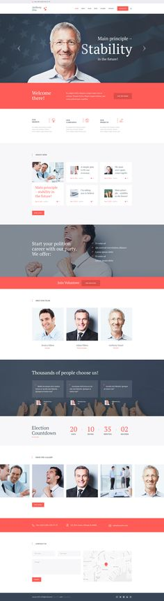 WordPress theme designed to change politicians' and social leaders' lives. It's the best option for political websites of any kind: election campaigns, political and social movements, political party's or individual political figure's website.