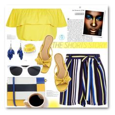 """""""The Shorts Story: Stripes"""" by queenvirgo ❤ liked on Polyvore featuring New Look, The Row, Marni, Givenchy, Alexa Starr and Christian Dior"""
