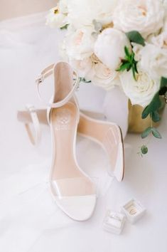 White shoes for bride - classic wedding heels for bride {With Love by Tara Marie}