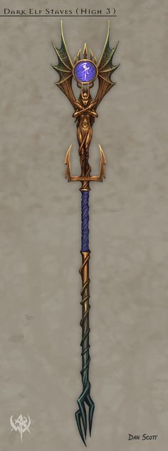 Dark Elf Staves ( High 3 )